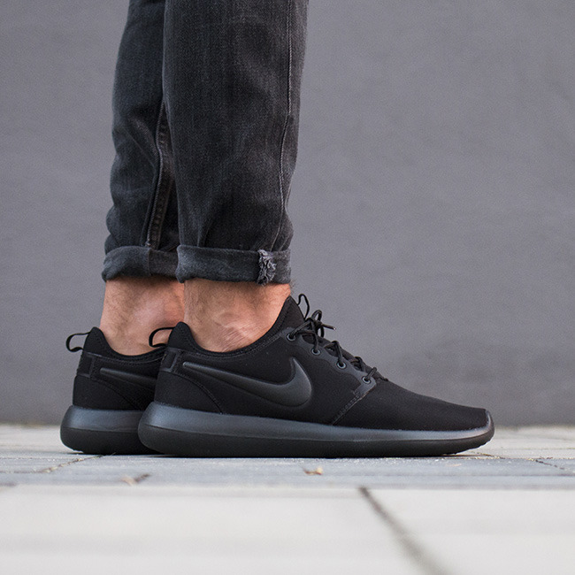 3526acf53d6ff Items similar to Nike Roshe Two White with Custom Black Candy Drip. Cheap  Nike Roshe Two Sale. Nike Sportswear ROSHE TWO FLYKNIT Trainers college navy