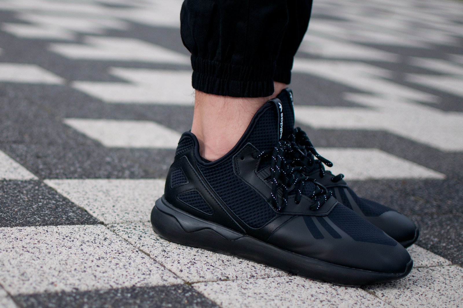 Adidas Tubular Doom Primeknit (Black): ON FEET