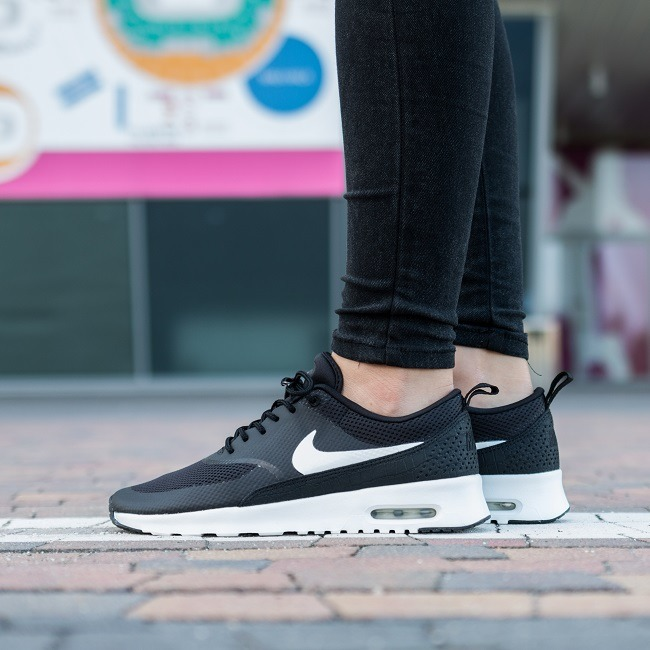 Nike Air Max Thea Women's Running Shoes Black/Black/White